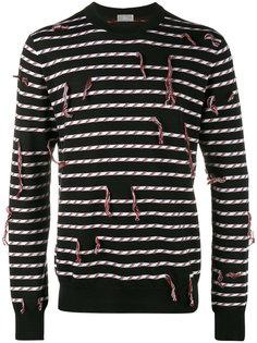 полосатый свитер с бахромой  Dior Homme