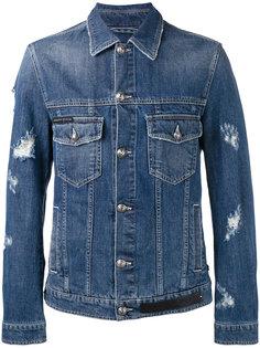 джинсовая куртка с потертостями Philipp Plein