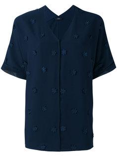 рубашка с цветочной отделкой  Steffen Schraut