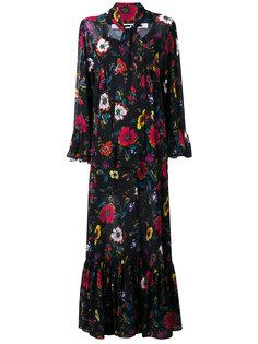 платье в пол с цветочным мотивом McQ Alexander McQueen