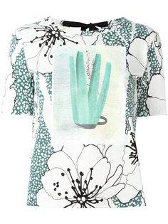 футболка с завязкой сзади и принтом  Marni
