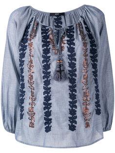 блузка с вышивкой и отделкой пайетками  Steffen Schraut