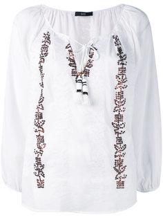 блузка с вышивкой пайетками  Steffen Schraut