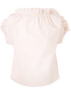 блузка с присборенной отделкой MSGM
