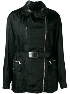 куртка с кожаным воротником Prada Vintage