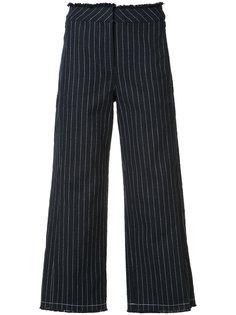 укороченные брюки в полоску Alexander Wang