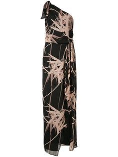 платье с цветочным принтом Halston Heritage
