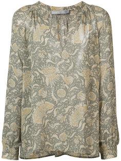 блузка с цветочным узором Vince