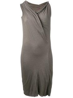 асимметричное драпированное платье  Rick Owens Lilies