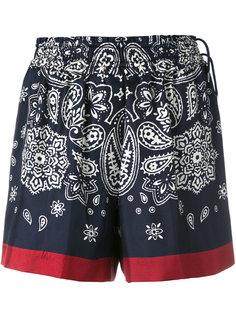 шорты с узором пейсли Moncler
