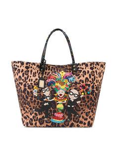 сумка-тоут Beatrice с леопардовым узором Dolce & Gabbana