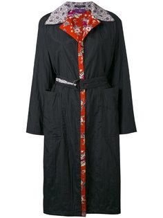 пальто с узорчатыми подкладкой и воротником Ys Y`s