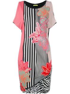 платье с рисунком из цветов Versace Jeans