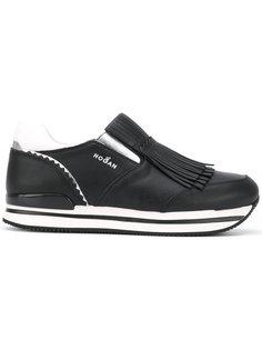 кроссовки-слипон с бахромой Hogan