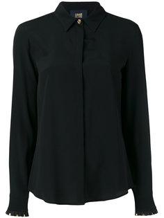 однотонная рубашка Cavalli Class