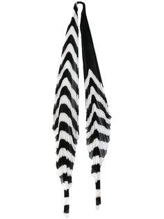 плиссированный шарф в полоску Orio Haider Ackermann