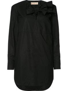 платье-рубашка с бантом Marni
