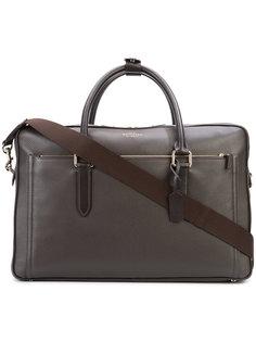 объемная сумка с логотипом Smythson