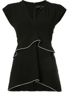 блузка с оборками Proenza Schouler