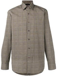 рубашка с мозаичным принтом Prada