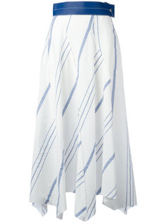 полосатая асимметричная юбка Loewe