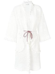 вязаное пальто-кардиган с бахромой Tsumori Chisato