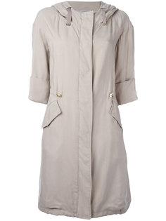 пальто с капюшоном и рукавами три-четверти Herno