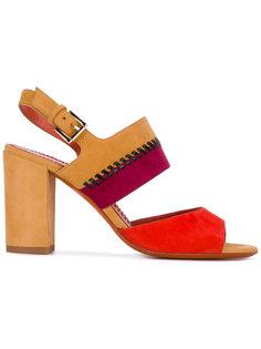 сандалии с обметочным швом Santoni