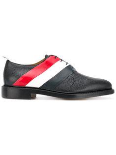 ботинки дерби в полоску Thom Browne