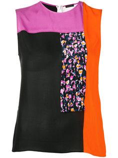 блузка дизайна колор-блок Versace