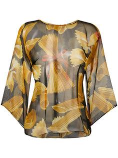блузка с принтом макарон Dolce & Gabbana