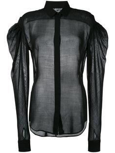 полупрозрачная рубашка с объемными рукавами  Saint Laurent