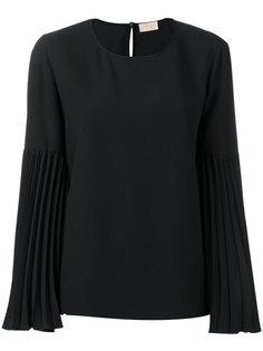 блузка с плиссированными рукавами Sara Battaglia