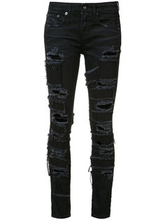 джинсы скинни с заплатками Alison R13