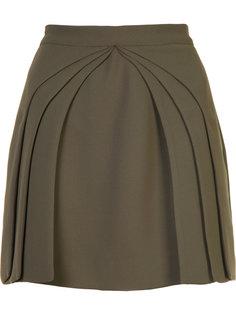 плиссированное многослойное мини-платье Brandon Maxwell