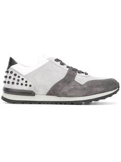 кроссовки на шнуровке с заклепками  Tods Tod`S