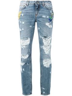 рваные джинсы-бойфренды Dolce & Gabbana