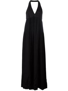 длинное платье с вырезом-халтер Paco Rabanne