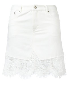 юбка с необработанными краями McQ Alexander McQueen