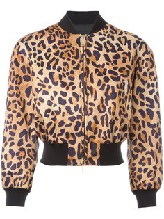 куртка бомбер с леопардовым узором Dsquared2