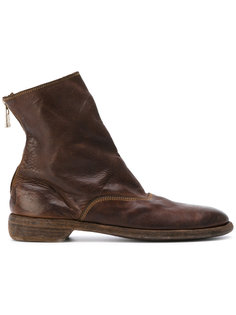 ботинки на молнии с эффектом потертости Guidi