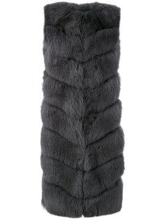 удлиненный жилет Liska