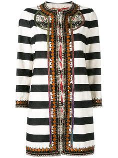 полосатое пальто Bazar Deluxe
