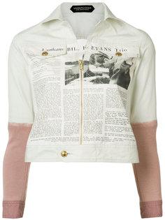 куртка с принтом в виде газетной вырезки Undercover