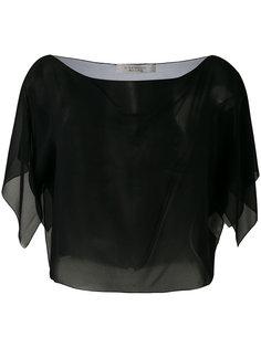 укороченная полупрозрачная блузка  D.Exterior