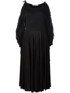 платье миди с оборками на рукавах  Philosophy Di Lorenzo Serafini