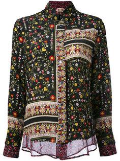 рубашка с цветочным принтом пэчворк Nº21