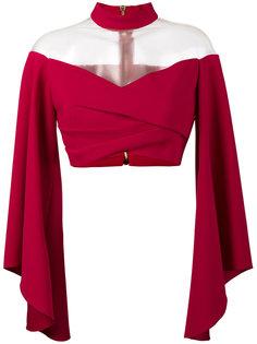блуза с расклешенными рукавами Balmain