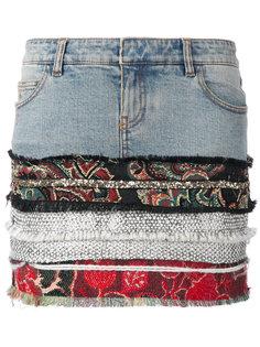 джинсовая юбка с принтом Faith Connexion