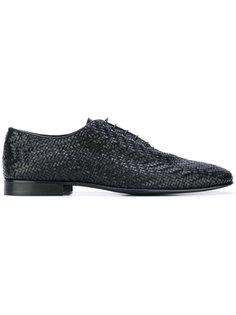 туфли на шнуровке с плетеным дизайном Roberto Cavalli